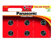 Panasonic  Batteri Lithium Cr2032  3V  6-Pack
