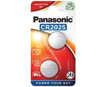 Panasonic Cr2025 3V  Lithium  2-Pack Knappcellsbatteri *